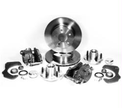 """Mopar 11"""" Front Disc Brake Conversion Kit with Drilled & Slotted Rotors"""